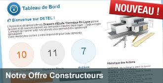 Notre offre constructeurs etude thermique rt2012 en ligne